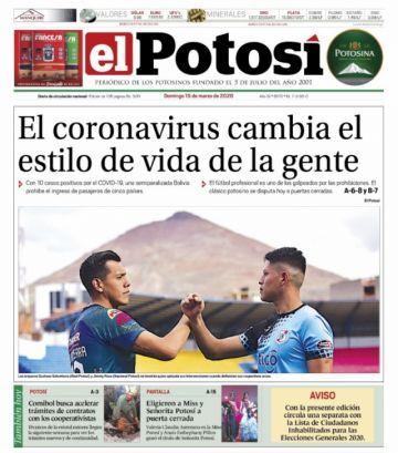 Las portadas del domingo siguen infestadas de coronavirus