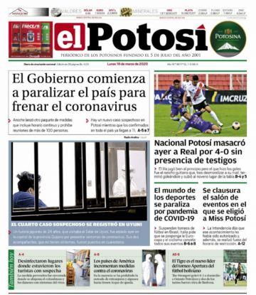 Las restricciones por el coronavirus mandan en la prensa nacional