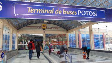 La terminal de buses de Potosí trabaja con relativa normalidad