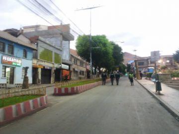 Así comienza la cuarentena en el centro de la ciudad de Potosí