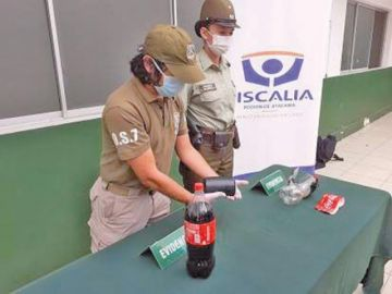 Chile: dos bolivianos transportaban droga en el interior de una botella