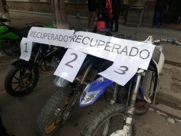 Recuperan al menos tres motocicletas sustraídas