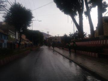 Así están las calles en el tercer día de cuarentena en Potosí