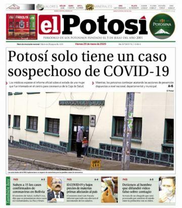 Imprecisión sobre casos de coronavirus campea en las portadas