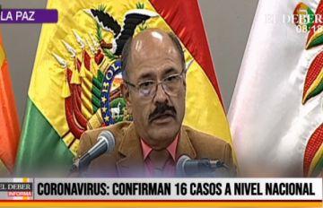 El Gobierno reporta 16 casos confirmados de coronavirus en el país