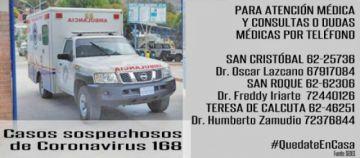 Organizan brigadas de salud para atención de urgencia en cuarentena