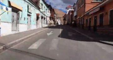 Así están las calles de Potosí en día de cuarentena