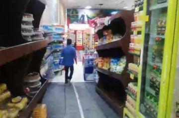 Así está uno de los supermercados de la ciudad