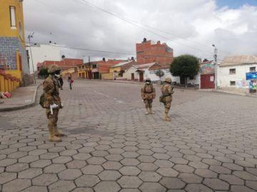 Potosí está militarizada en cumplimiento a decreto de emergencia nacional