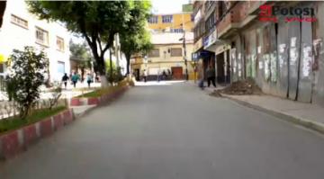 Así está el centro de Potosí este viernes 27 de marzo