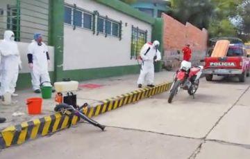 Continúan con la tarea de fumigado en el municipio de Potosí