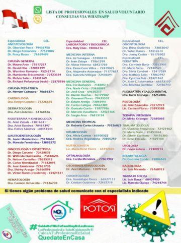 Médicos Online Potosí recibe entre 15 a 20 consultas diarias