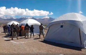 Habilitan campamento en Pisiga para 300 bolivianos que serán repatriados