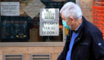 Italia vislumbra una fase de leve caída de los contagios de coronavirus