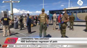 Gobierno: 480 compatriotas llegaron a Bolivia desde Chile
