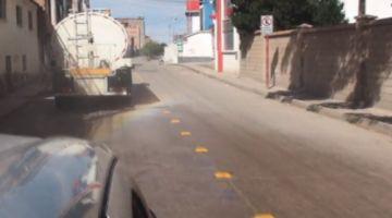 Alcaldía de Potosí desinfectó calles de los distritos 9 y 17
