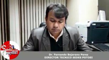 Director del Sedes advierte que habrá más casos positivos de coronavirus en Potosí