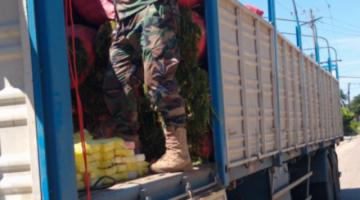 Una persona transportaba más de 173 kilos de cocaína en camión con verduras