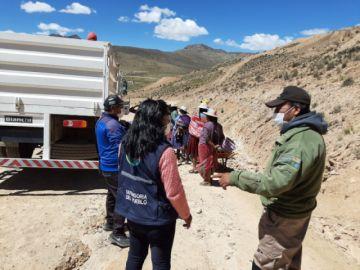 Posibilitan mercado móvil para guardas del Cerro Rico