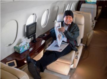 Evo pide usar Casa Grande para repatriados y vender aviones y helicópteros para alimento