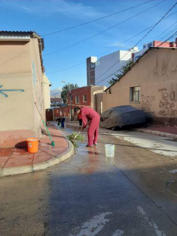 Vecinos del Distrito 1 se organizaron para limpiar sus calles