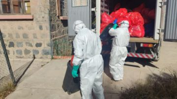 Habilitan furgón para recojo de desechos de coronavirus