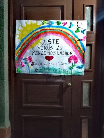 Los niños y niñas comparten mensajes positivos en cuarentena