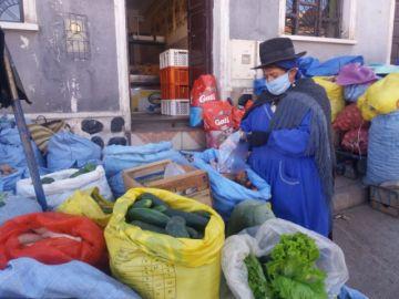 """Mercado de Plaza """"El Minero"""" tiene cámara de desinfección"""
