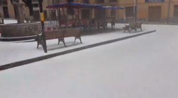 Cae granizo en la ciudad de Potosí