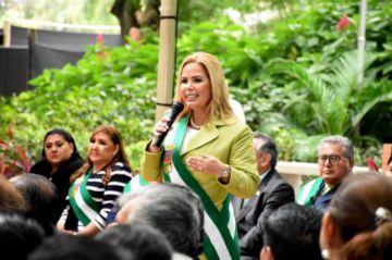 Angélica Sosa es ratificada como alcaldesa interina de la capital cruceña