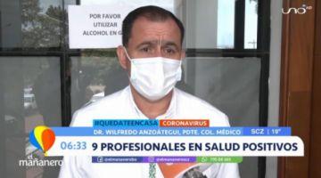 Nueve médicos dan positivo a COVID-19 en Montero