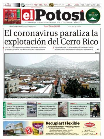 El Potosí salió hoy en su edición impresa