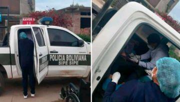 Una mujer dio a luz en una patrulla policial en Sipe Sipe