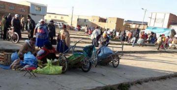 """En Patacamaya realizan ferias todos los días pese a estar """"encapsulados"""" desde el 29 de marzo"""
