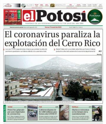 Descargue aquí la edición digital de El Potosí de este domingo 19 de abril