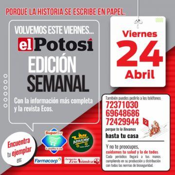El Potosí vuelve a circular este viernes