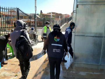 Entregaron víveres a privados de libertad en Uncía