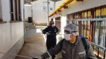 El Sedes desinfecta domicilios de nuevos casos de COVID-19