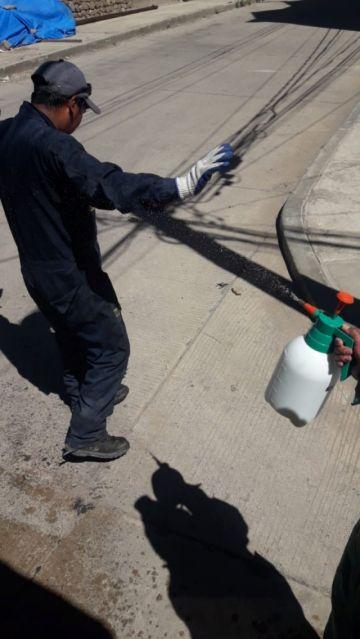EMAP implementa desinfección portátil para los camiones