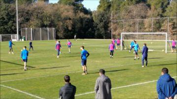 Tottenham con Lamela, Lo Celso, Foyth y Gazzaniga volvió a practicar