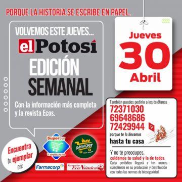 El Potosí vuelve el jueves