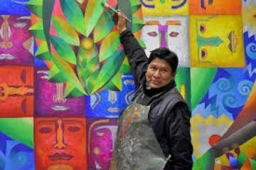 Mamani Mamani pone a la venta 9 obras para ayudar a las familias pobres afectadas por COVID-19