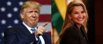 Presidena Áñez agradece llamada de respaldo de Trump