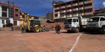 Preparan el terreno para el hospital Móvil de la CNS en Potosí