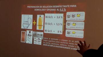 El personal de aseo urbano se capacita sobre desinfección y manejo de residuosen Potosí