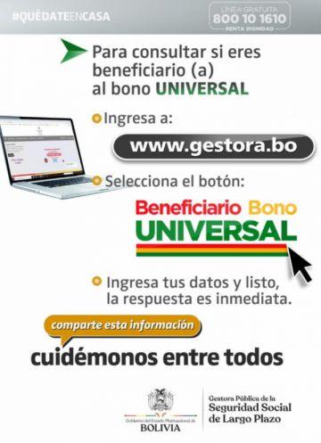 Consulta aquí si estás o no habilitado para cobrar el Bono Universal