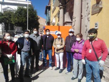 Comisión del Gobierno evalúa centros COVID en Potosí
