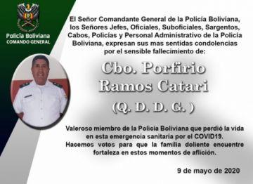 Confirman el deceso de otro policía a causa del coronavirus