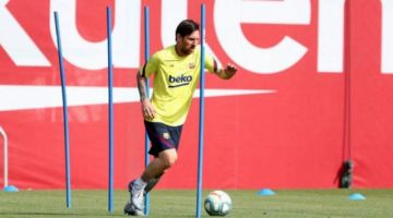 Barcelona, con Messi, entrenó por segundo día seguido y sufrió la primera lesión
