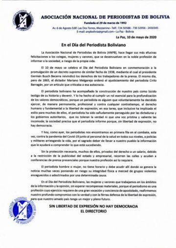 En el Día del Periodista ratifican defensa de la Libertad de Expresión